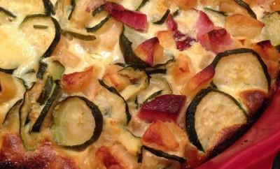 gateau de courgettes aux pommes et au romarin