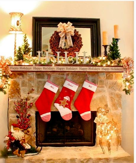 parure de cheminée de Noël