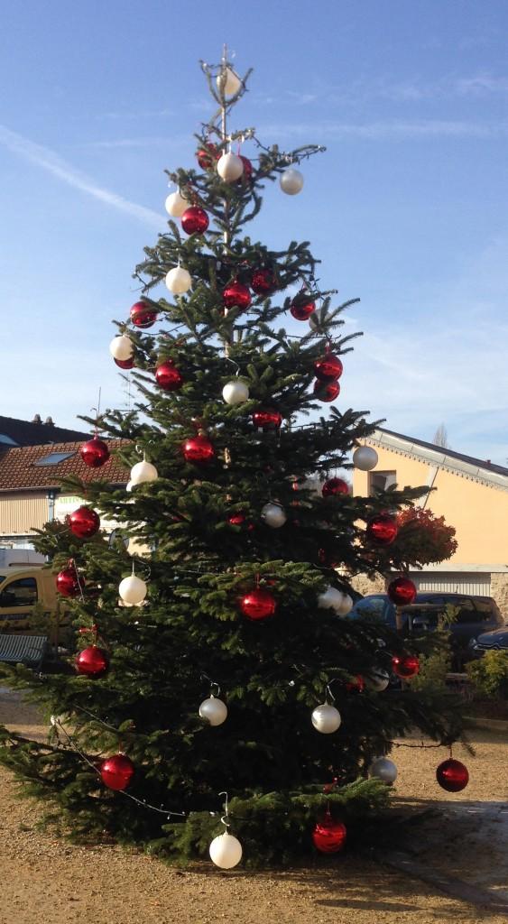 le sapin de Noël sur la place