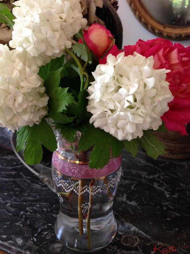 roses et viburnum