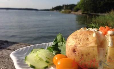 Backad potatis