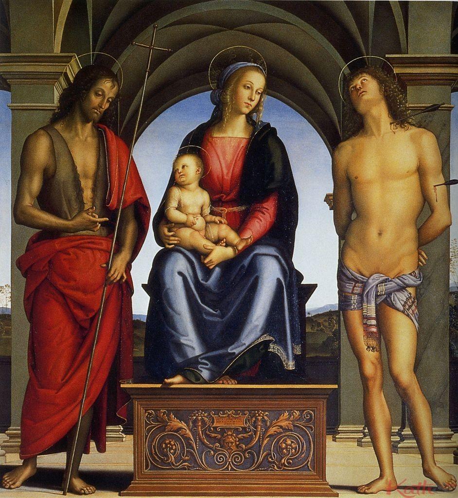 Huile sur toile, 178 × 164 cm, Galerie des Offices, Florence.