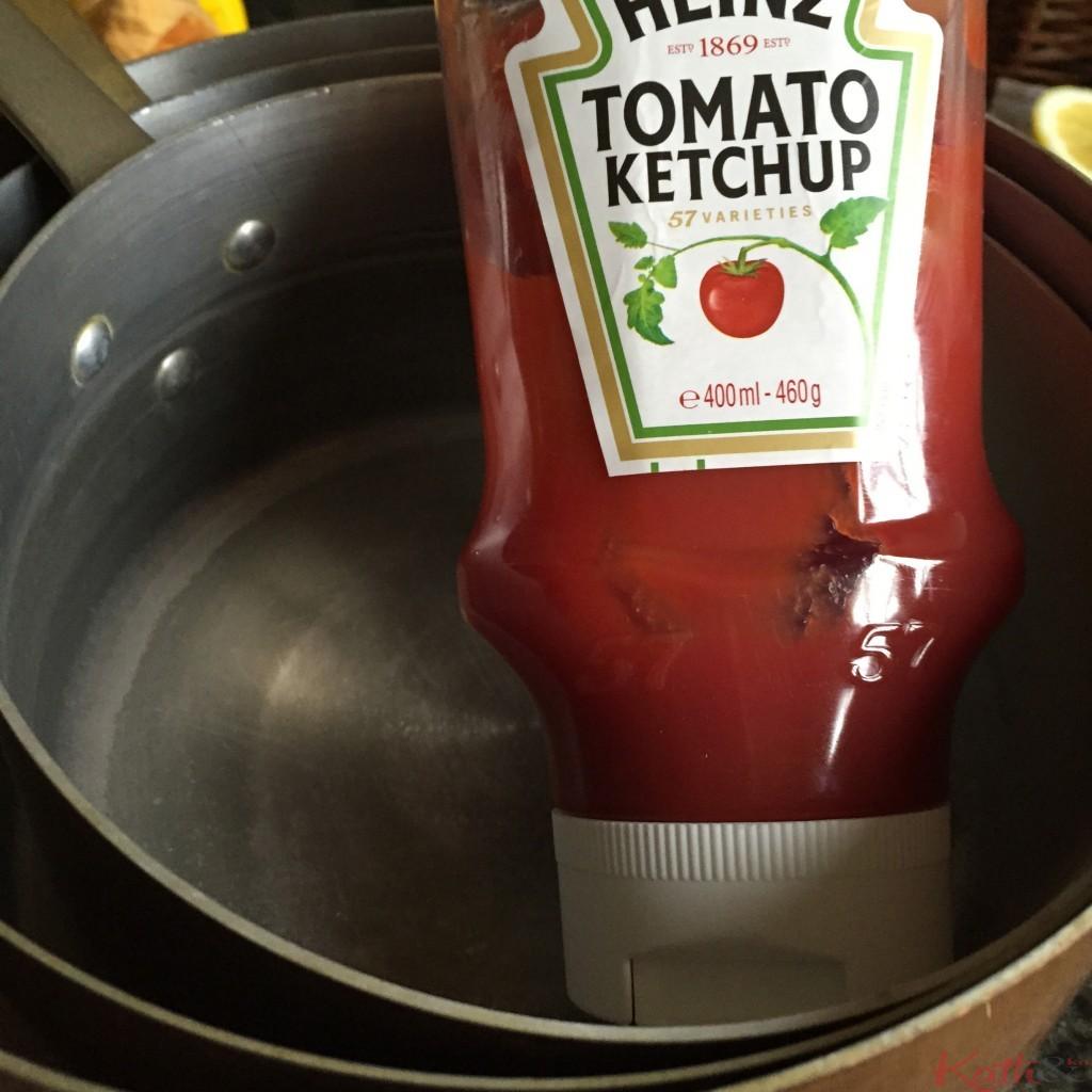 le ketchup nettoie le cuivre