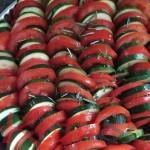 Tian aux courgettes, aux tomates et au chèvre