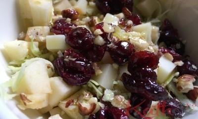 salade de chou ,pommes, cranberries