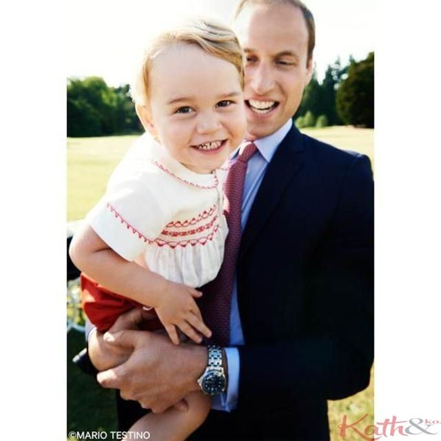 Le prince George dans Courtesy of Twitter/Mario Testino/Kensington Palace