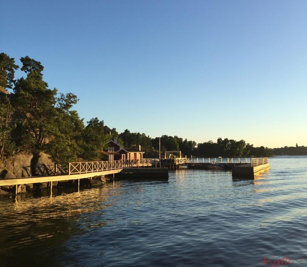 coucher de soleil Suède