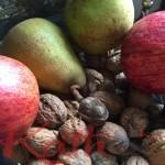 crumble pommes, poires, noix