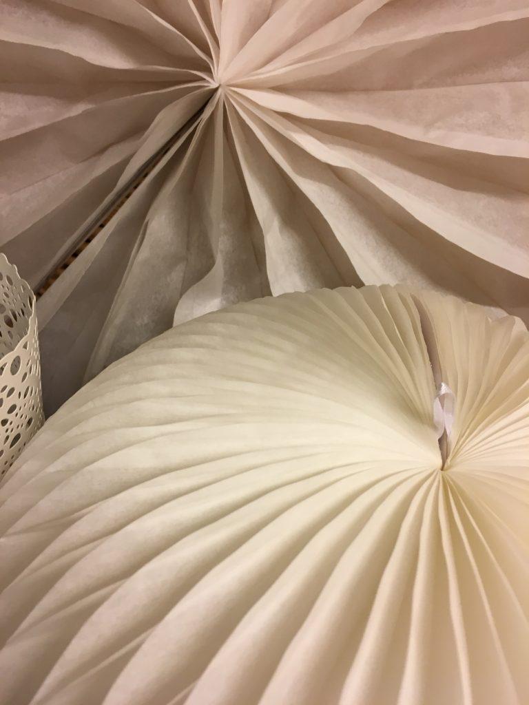 boule papier blanc