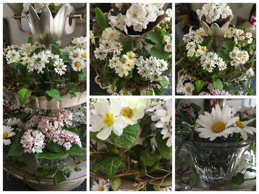 serviteur fleurs