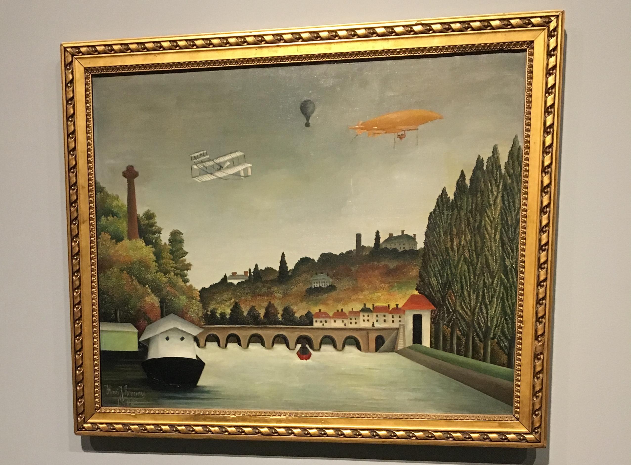 Le Douanier Rousseau Vue du Pont de Sèvres et des coteaux de Clamart, Saint Cloud et Bellevue (1908)