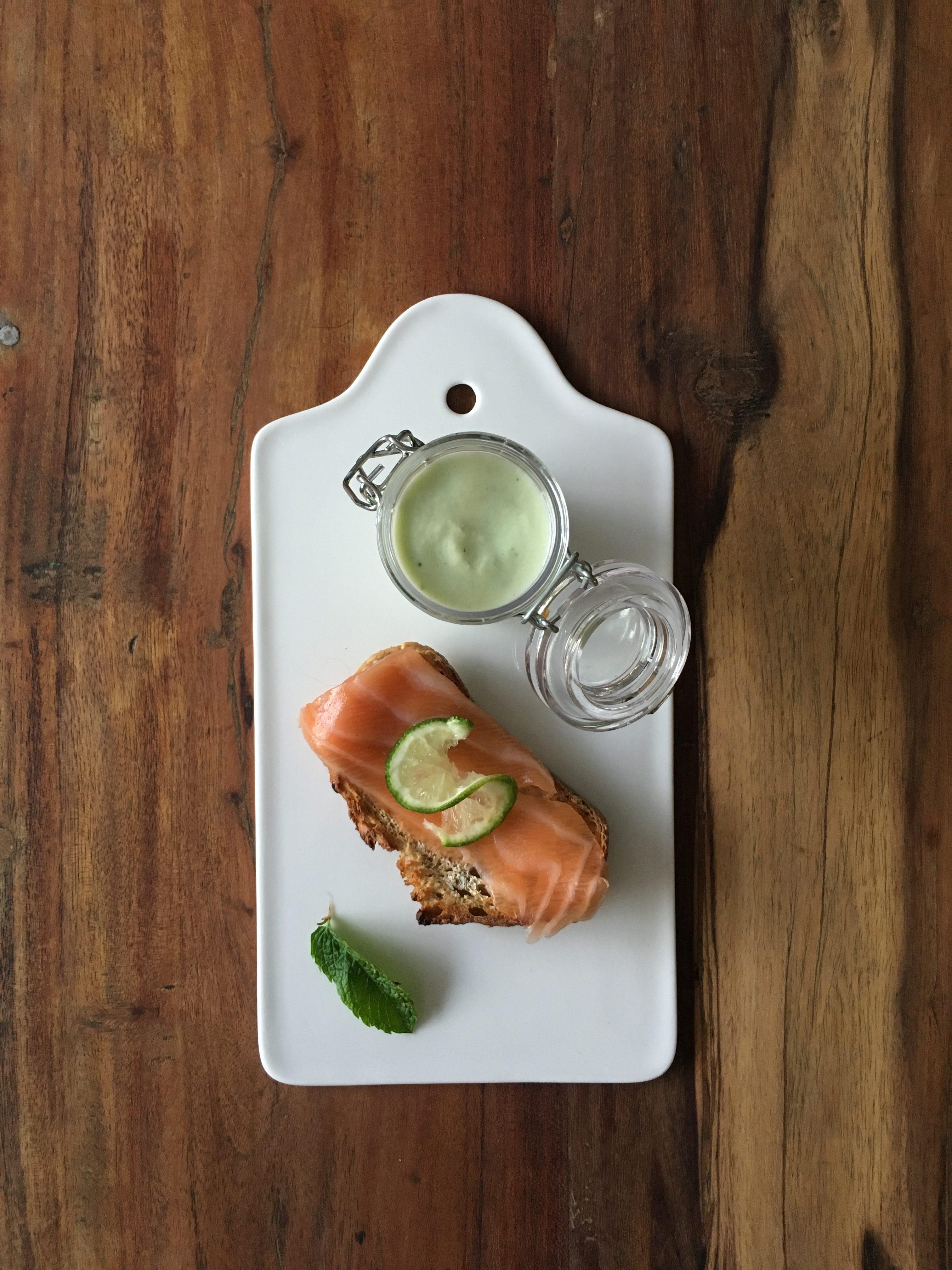 velouté de concombre et saumon