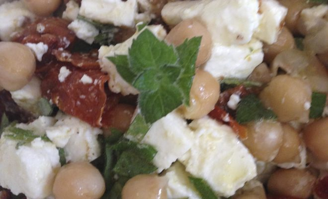 salade de pois chiche tomates