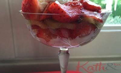 riz au lait fraises, kiwi