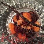 compotée de fruits secs , badiane, vanille